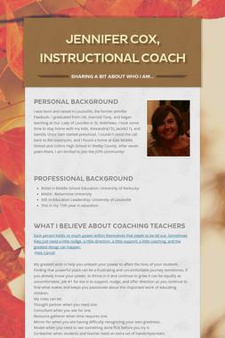 Jennifer Cox, Instructional Coach