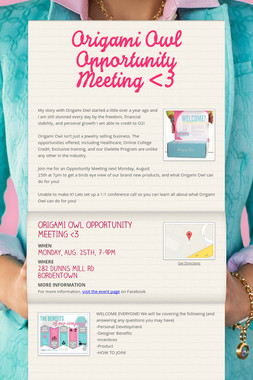 Origami Owl Opportunity Meeting <3