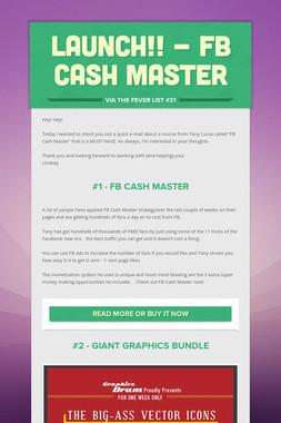 Launch!! - FB Cash Master