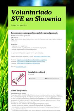 Voluntariado SVE en Slovenia