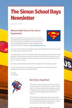 The Simon School Days Newsletter