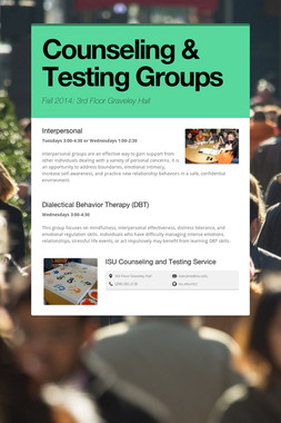 Counseling & Testing Groups