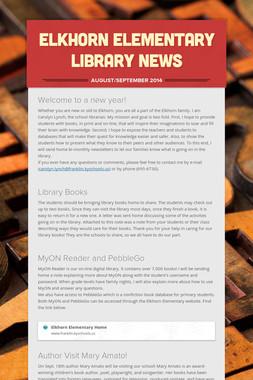 Elkhorn Elementary Library News