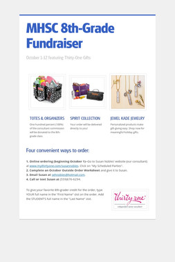 MHSC        8th-Grade Fundraiser