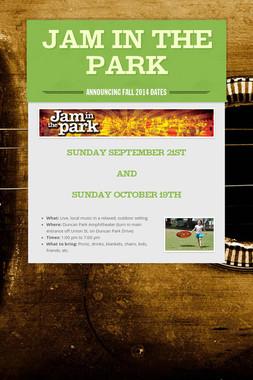 Jam in the Park