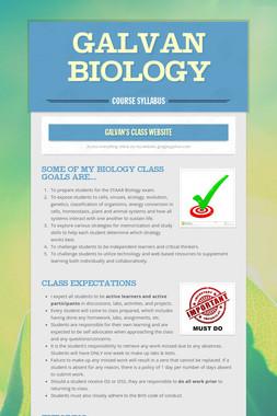 Galvan Biology