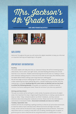 Mrs. Jackson's 4th Grade Class