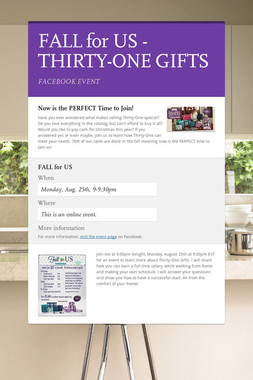 FALL for US - THIRTY-ONE GIFTS