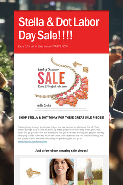 Stella & Dot Labor Day Sale!!!!