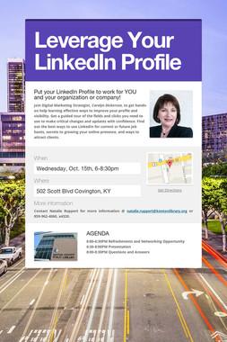 Leverage Your LinkedIn Profile