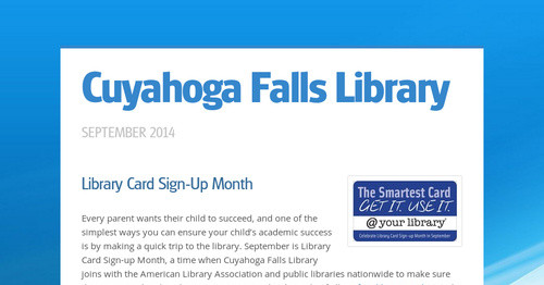 Cuyahoga Falls Library | Smore Newsletters