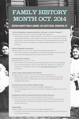 Family History Month Oct. 2014