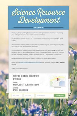 Science Resource Development