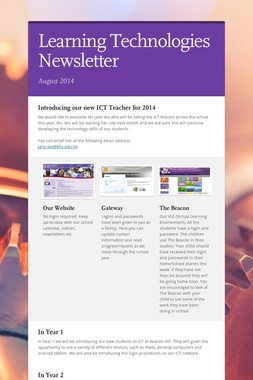 Learning Technologies Newsletter
