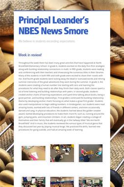 Principal Leander's NBES News Smore