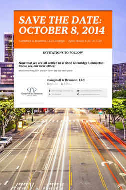 SAVE THE DATE: OCTOBER 8, 2014
