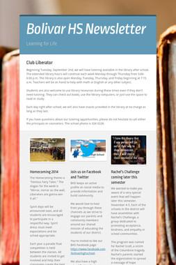 Bolivar HS Newsletter