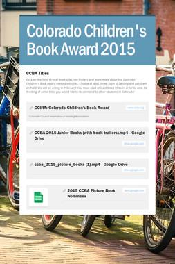 Colorado Children's Book Award 2015