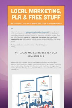 Local Marketing, PLR & FREE Stuff