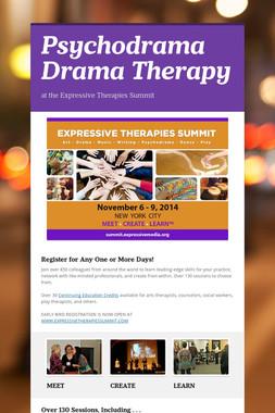 Psychodrama Drama Therapy