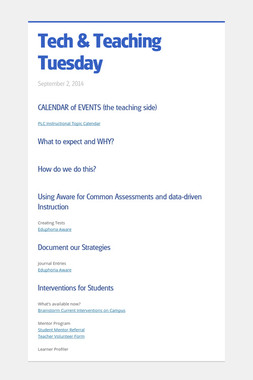 Tech & Teaching Tuesday