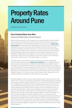 Property Rates Around Pune