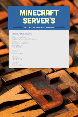 Minecraft Server's