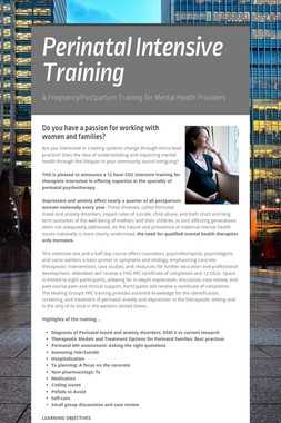 Perinatal Intensive Training