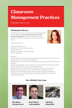 Classroom Management Practices