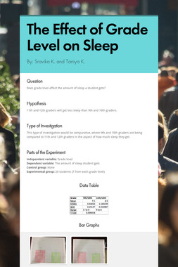 The Effect of Grade Level on Sleep
