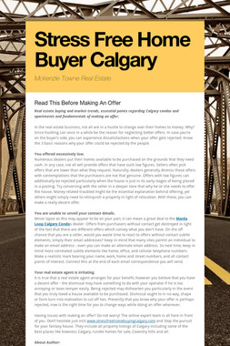 Stress Free Home Buyer Calgary