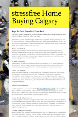 stressfree Home Buying Calgary