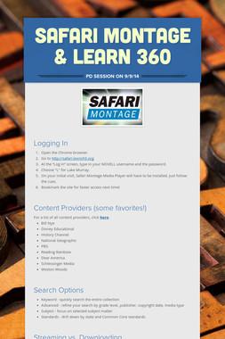 SAFARI Montage & Learn 360