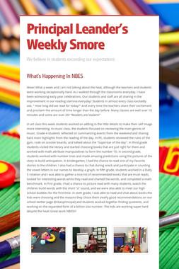 Principal Leander's Weekly Smore
