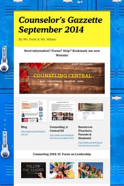 Counselor's Gazzette September 2014
