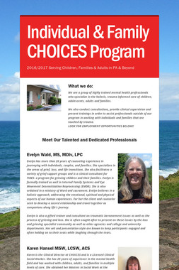 Individual & Family CHOICES Program