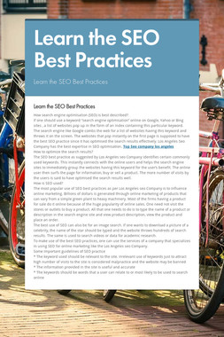 Learn the SEO Best Practices