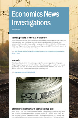 Economics News Investigations