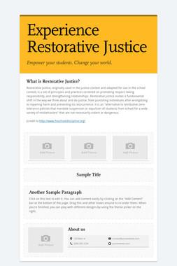 Experience Restorative Justice