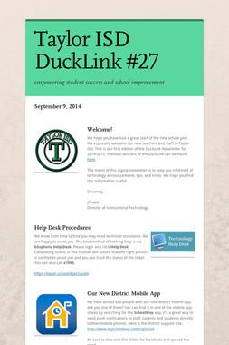Taylor ISD DuckLink #27