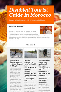 Disabled Tourist Guide In Morocco