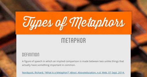 Types Of Metaphors Smore Newsletters
