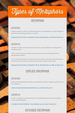 Types of Metaphors