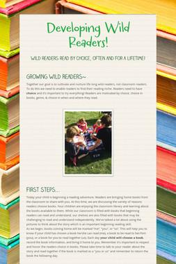 Developing Wild Readers!