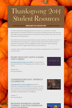 Thanksgiving 2014 Student Resources
