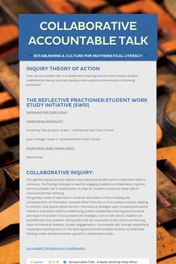 Collaborative Accountable Talk