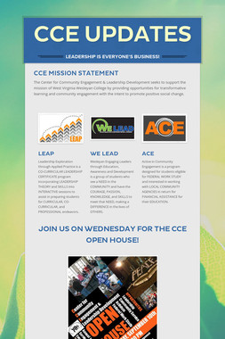 CCE Updates