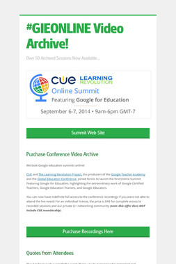 #GIEONLINE Video Archive!