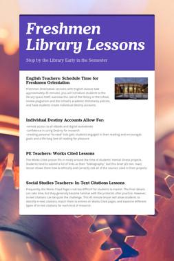 Freshmen Library Lessons