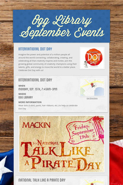Ogg Library September Events